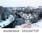 a winter landscape with viaduct ...   Shutterstock . vector #1012267729