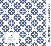blue and white ornamental...   Shutterstock .eps vector #1012269184
