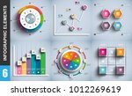 infographic elements data... | Shutterstock .eps vector #1012269619