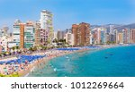 Panoramic View On The Beach Of...