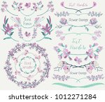 collection of floral design... | Shutterstock .eps vector #1012271284