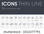 set of sale thin line vector... | Shutterstock .eps vector #1012277791