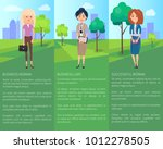 business woman successful lady... | Shutterstock .eps vector #1012278505