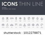 set of buddhism thin line... | Shutterstock .eps vector #1012278871