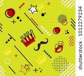 trendy seamless  memphis style... | Shutterstock .eps vector #1012279234