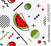 trendy seamless  memphis style... | Shutterstock .eps vector #1012279237