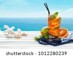 refreshing lemonade with... | Shutterstock . vector #1012280239