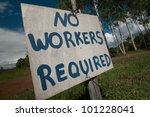 sign at an australian farm  no...