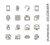 device flat icon set . single... | Shutterstock .eps vector #1012281859