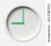 realistic wall clock. nine... | Shutterstock .eps vector #1012282321