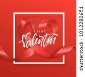 saint valentin lettering... | Shutterstock .eps vector #1012282651