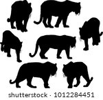illustration with tiger...   Shutterstock .eps vector #1012284451