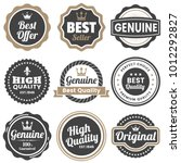 vintage retro vector logo for... | Shutterstock .eps vector #1012292827