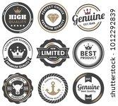 vintage retro vector logo for... | Shutterstock .eps vector #1012292839
