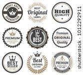 vintage retro vector logo for... | Shutterstock .eps vector #1012292911