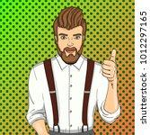 pop art raster illustration.... | Shutterstock . vector #1012297165