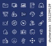 business outline vector icon... | Shutterstock .eps vector #1012299139