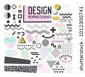 abstract memphis style design... | Shutterstock .eps vector #1012300741