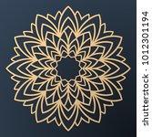 laser cutting mandala. golden...   Shutterstock .eps vector #1012301194