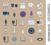 icon set about connectors... | Shutterstock .eps vector #1012304011