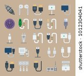 icon set about connectors... | Shutterstock .eps vector #1012304041