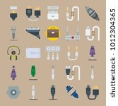 icon set about connectors... | Shutterstock .eps vector #1012304365