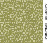 olive floral pattern with... | Shutterstock .eps vector #1012307899