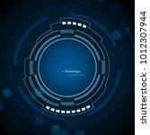 sci fi futuristic user... | Shutterstock .eps vector #1012307944