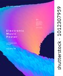 electronic music poster with... | Shutterstock .eps vector #1012307959