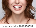 Healthy White Smile Close Up....