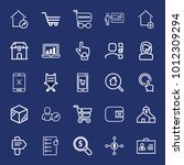 business outline vector icon... | Shutterstock .eps vector #1012309294