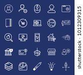 business outline vector icon... | Shutterstock .eps vector #1012309315