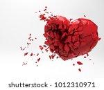 3d broken heart rendering... | Shutterstock . vector #1012310971