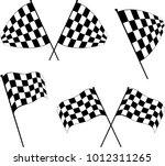 race flag various designs ... | Shutterstock .eps vector #1012311265