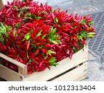 red chili box of salento  italy   Shutterstock . vector #1012313404