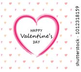 happy valentine's day   card... | Shutterstock .eps vector #1012318159