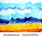 abstract watercolor painting... | Shutterstock . vector #1012322941