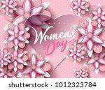 8 march  international happy... | Shutterstock .eps vector #1012323784