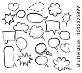 stickers of speech bubbles... | Shutterstock .eps vector #1012325899