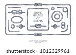 nautical rope knots and frames... | Shutterstock .eps vector #1012329961