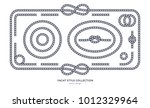 nautical rope knots and frames... | Shutterstock .eps vector #1012329964