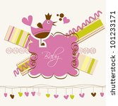 cute baby arrival card | Shutterstock .eps vector #101233171