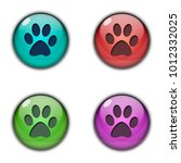 button icon logo footprint of... | Shutterstock . vector #1012332025