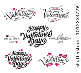 happy valentine's day vector...   Shutterstock .eps vector #1012333729