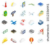 air force icons set. isometric... | Shutterstock .eps vector #1012336441