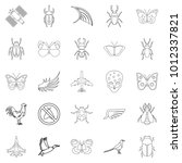 rise icons set. outline set of... | Shutterstock .eps vector #1012337821