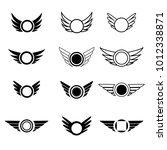 wings vector logo set. luxury... | Shutterstock .eps vector #1012338871