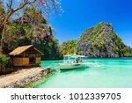 filipino boat in the sea  coron ...   Shutterstock . vector #1012339705