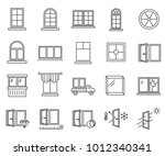 simple set of window related... | Shutterstock .eps vector #1012340341