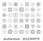 set luxury monogram logo... | Shutterstock .eps vector #1012344979